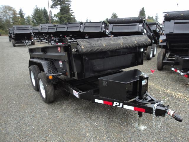 2018 PJ Trailers 5X8 7K w/Tarp Kit Dump Trailer