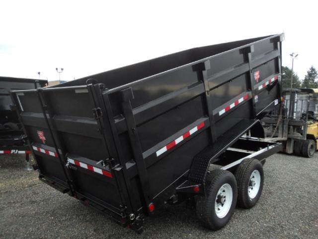 2018 PJ 7x14 14K High Side Dump w/10K Jack/Tire Mount