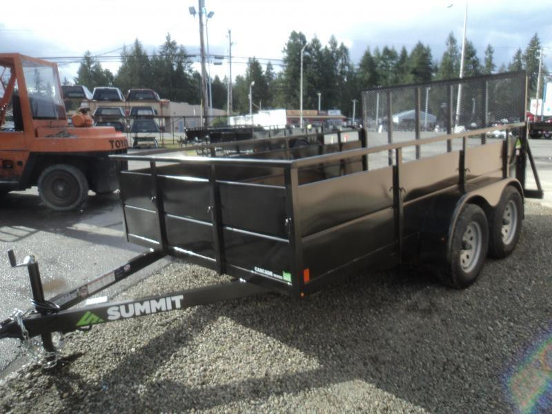 2020 Summit Cascade 7x14 Dual Axle Utility Trailer