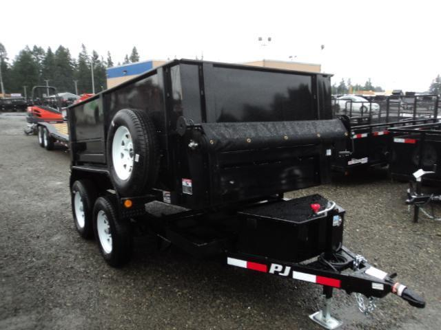 "2018 PJ Trailers 5x10 7k w/18"" Side Ext Kit/Spare Tire/Tarp Kit Dump Trailer"