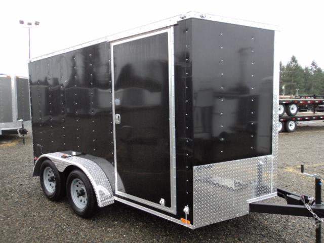 2018 Cargo Mate 7X12 7K Enclosed Cargo Trailer Rear Ramp Door