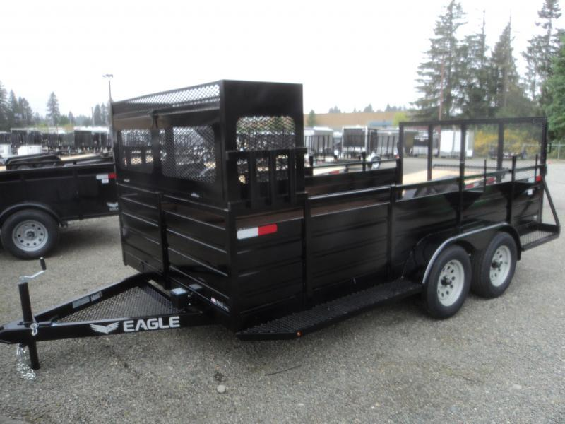 2019 Eagle 7X14 7K w/Landscape Package Utility Trailer