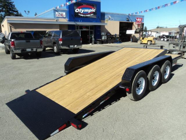 2018 PJ Trailers 22'  21K Channel Equipment Tilt Trailer