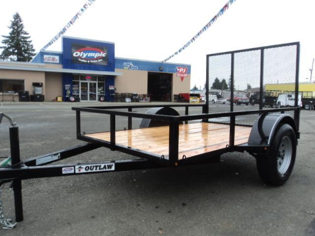2017 Outlaw Conversions 5x8 Utility Trailer