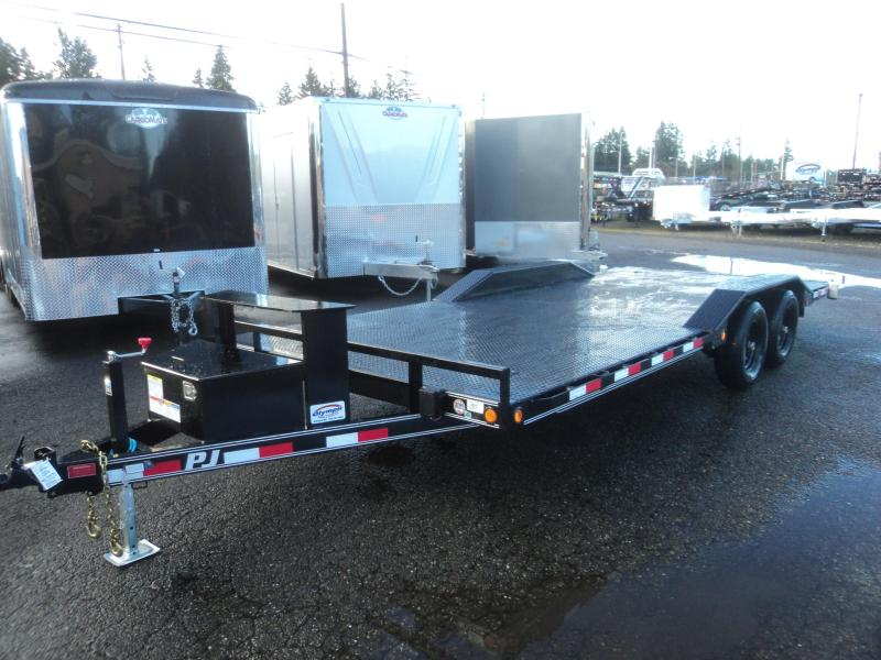 2018 PJ Trailers 8.5X20 10K Channel Buggy Hauler w/Steel deck/toolbox/winch plate