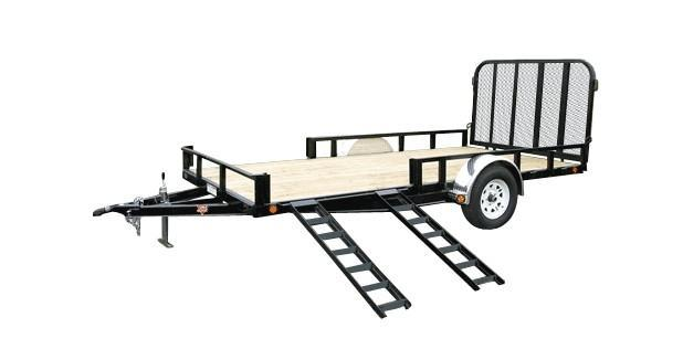 2018 PJ Trailers 7X14 with Side Mount ATV Ramps Utility Trailer