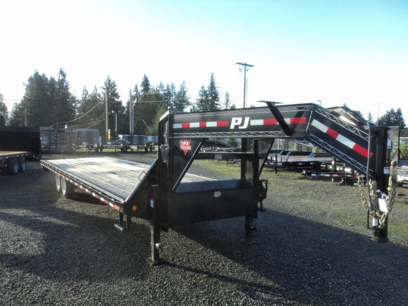 2018 PJ Gooseneck F8 30ft Equipment Trailer