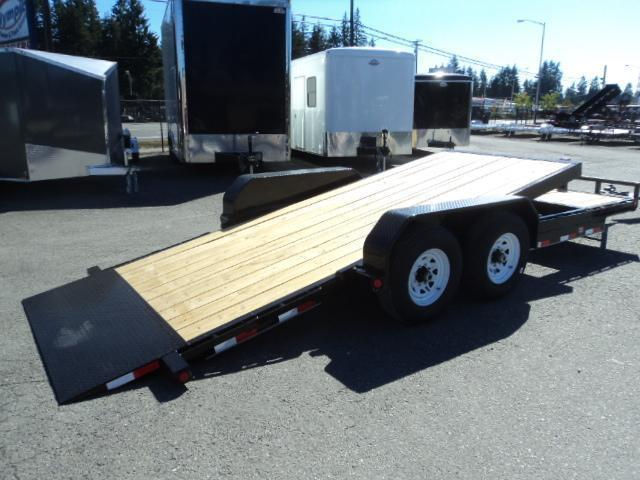 2018 PJ Trailers 7x20 14K Channel Equipment Tilt Trailer