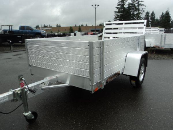 "2019 Aluma 4.5X8 WITH 24"" TALL SIDES Utility Trailer"