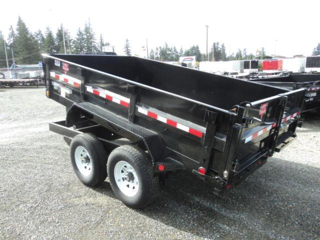 2018 PJ Trailers 7X12 14K w/Tarp Kit Tandem Axle Dump Trailer