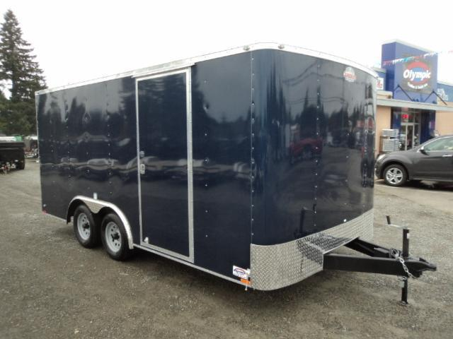 2017 Cargo Mate Challenger 8.5x16 7K W/Rear ramp door Enclosed