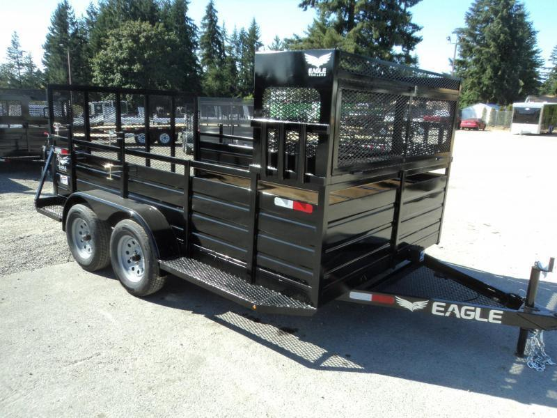 2019 Eagle 7X12 7K w/Landscape Package Utility Trailer
