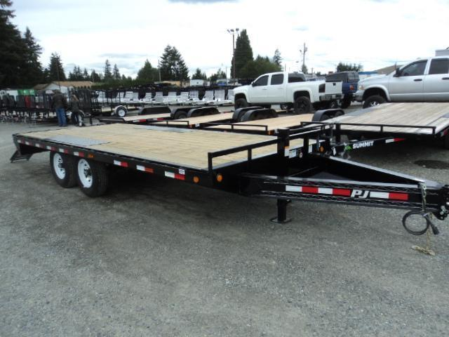 "2020 PJ Trailers 8.5X20 8"" I-Beam Deckover (F8) Equipment Trailer"