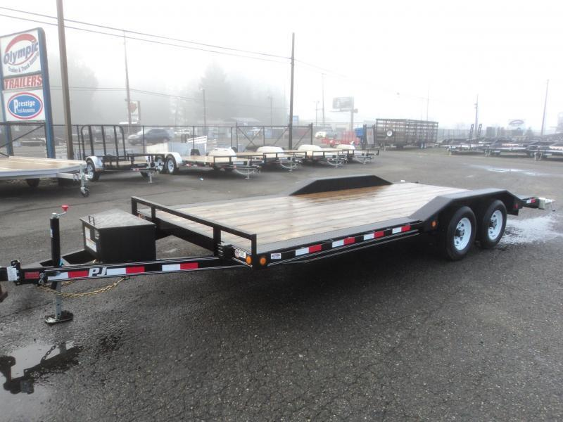 2020 PJ Trailers 8.5X20 10K Buggy Hauler w/Toolbox/Winch Plate