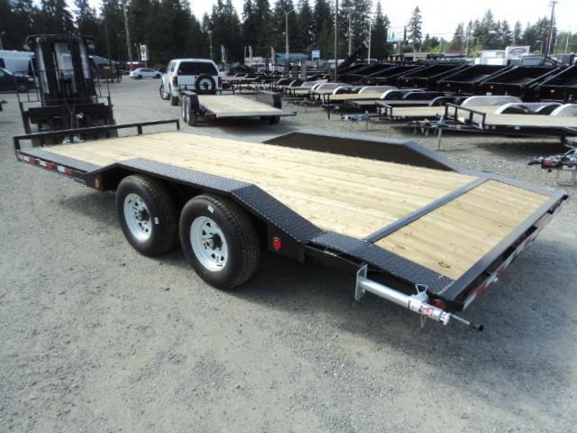 2018 PJ Trailers 8.5X18 10K Channel Buggy Hauler w/Dovetail
