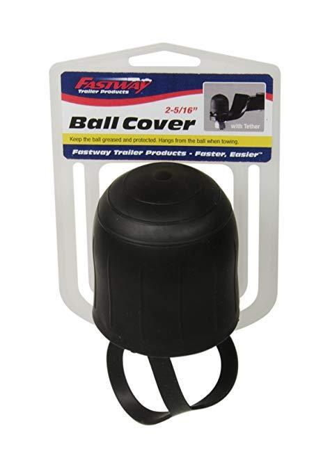 """RUBBER 2 5/16"""" TRAILER BALL COVER WITH TETHER"""