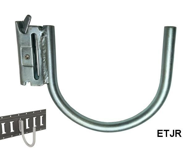E-TRACK J-HOOK 1/2 INCH x 4 1/4 INCH ROUND ZINC PLATED