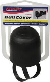 """RUBBER 2"""" TRAILER BALL COVER WITH TETHER"""