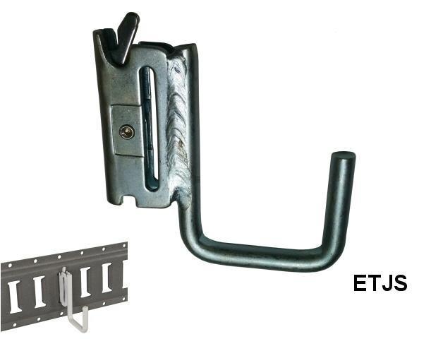 E-TRACK J-HOOK 3/8 INCH x 2 INCH SQUARE ZINC PLATE
