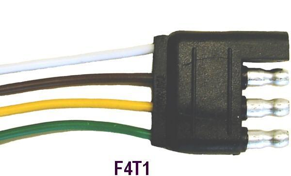 4 WAY FLAT 18 GAGE WIRE 12 INCH MALE END ONLY