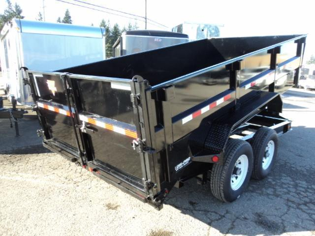 2018 PJ Trailers 7x14 Low Pro High Side Dump w/4ft Sides