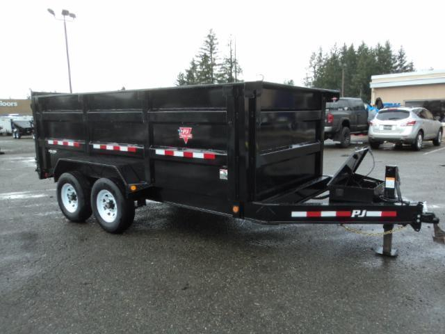 2020 PJ Trailers 7x14 High Side Dump w/4ft Sides/10K Jack/Tarp Kit