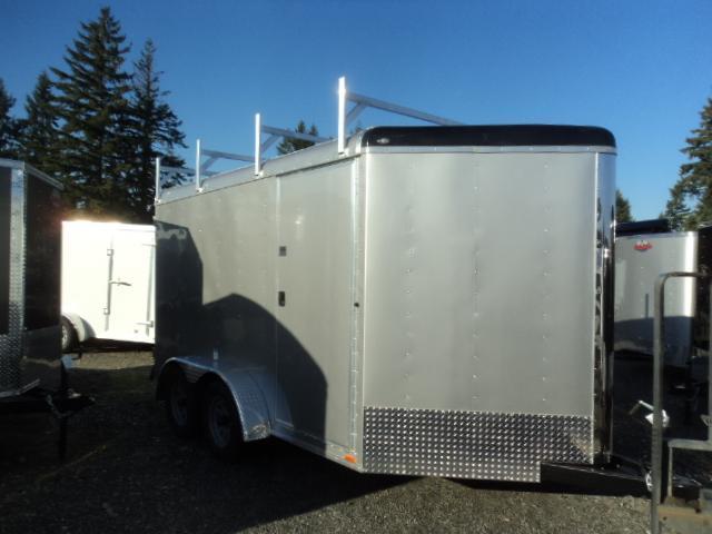 2018 Cargo Mate Blazer 7X12 Wedge w/Ladder Racks  7K Enclosed Cargo Trailer
