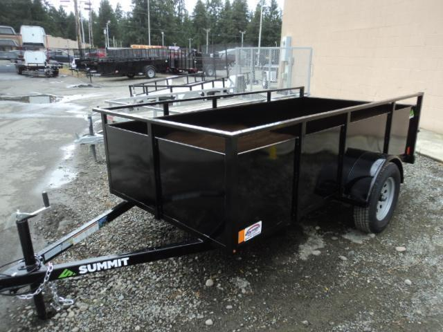 2018 Summit Alpine 6X10 Single Axle W/Split Ramp Utility Trailer