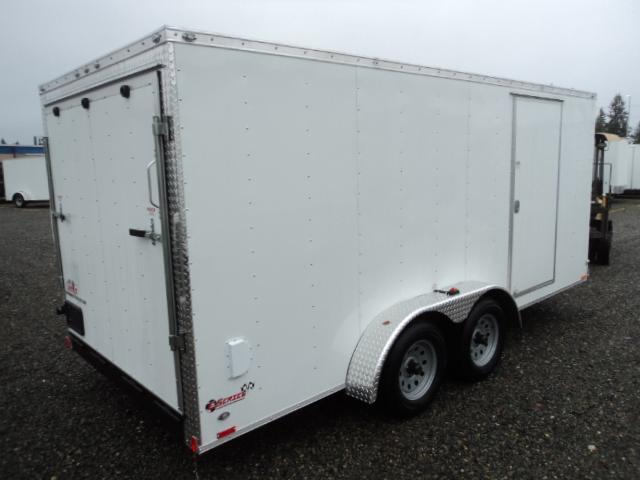 2020 Cargo Mate E-series 7x16 7Kw/Extra Height/Wedge w/Rear Ramp Door