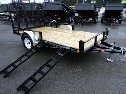2018 PJ Trailers 6.5X12 Channel Utility Trailer w/side mount ATV Ramps