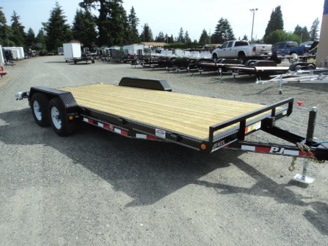 2018 PJ Trailers 7X18 10K Channel Equipment Trailer