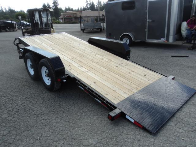 2018 PJ Trailers 7X16 14k Channel Equipment Tilt Trailer
