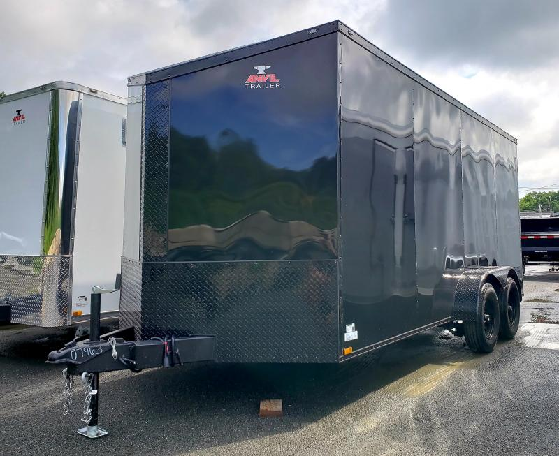 2019 Anvil 7x16 7K Enclosed Cargo Trailer [BLACK-OUT]
