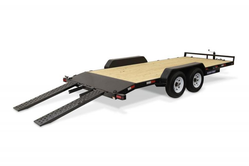 2019 Sure-Trac 7x20 7K Wood Deck Car Trailer