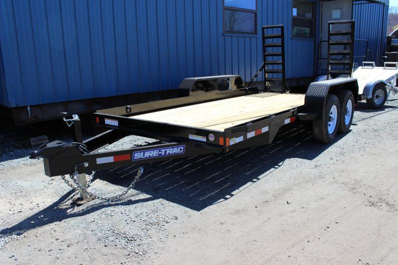 2019 Sure-Trac 7x14 14K Skid Steer Equipment Trailer