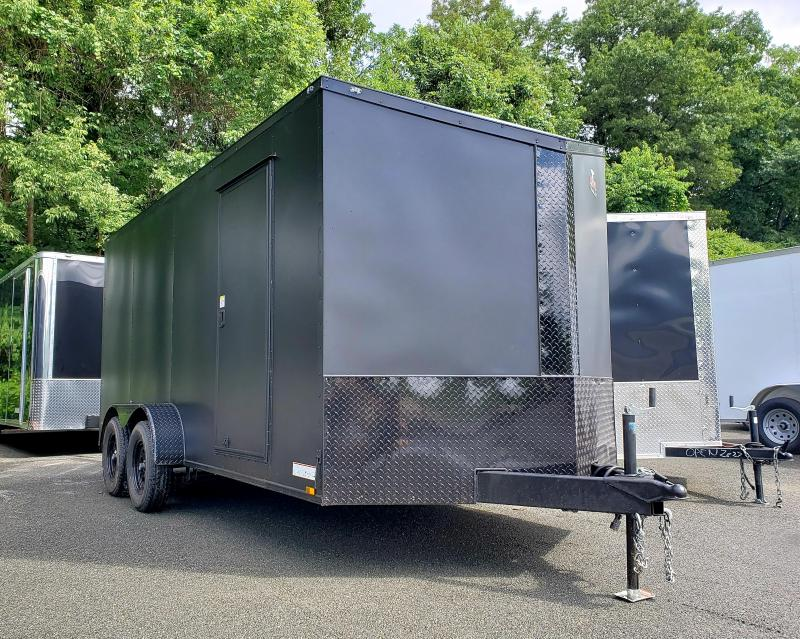 2019 Anvil 7x16 7K Enclosed Cargo Trailer [MATTE BLACK-OUT]
