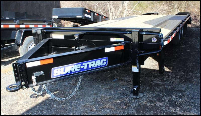 2018 Sure-Trac 8.5x20+5 15K HD Beavertail Deckover Equipment Trailer