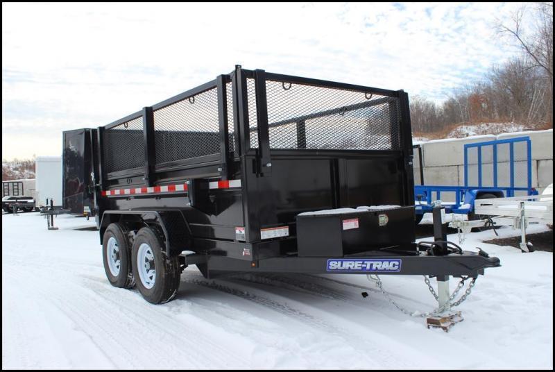2019 Sure-Trac 6x10 10K LowProfile Dump Trailer [MESH SIDES]