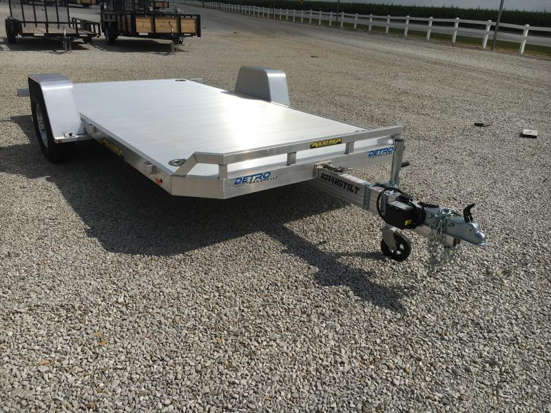 Used 2020 Aluma 82X14 Flatbed Trailer