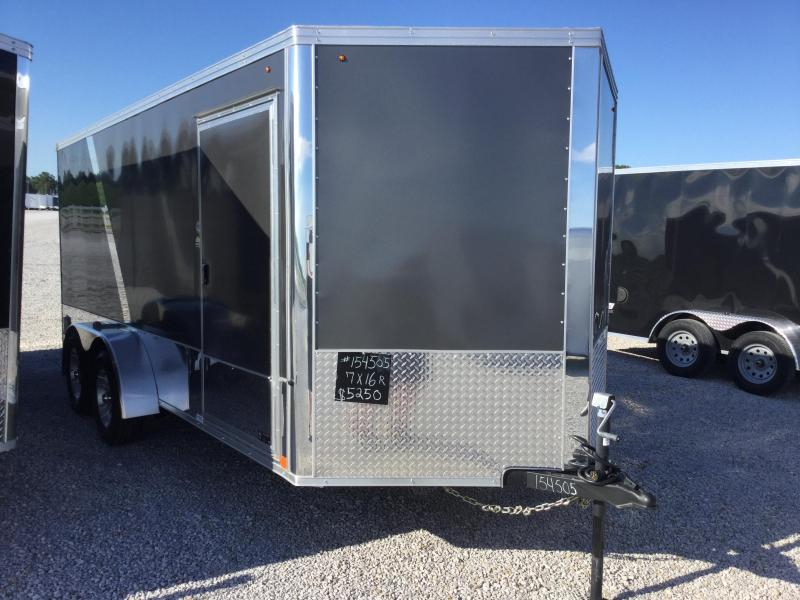 2015 United Trailers XLMTV 7 x 16 Enclosed Motorcycle Trailer