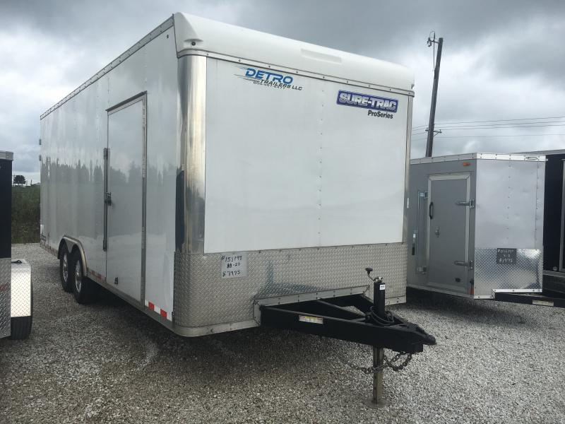 USED 2017 Sure-Trac 8.5X20 Enclosed Cargo Trailer