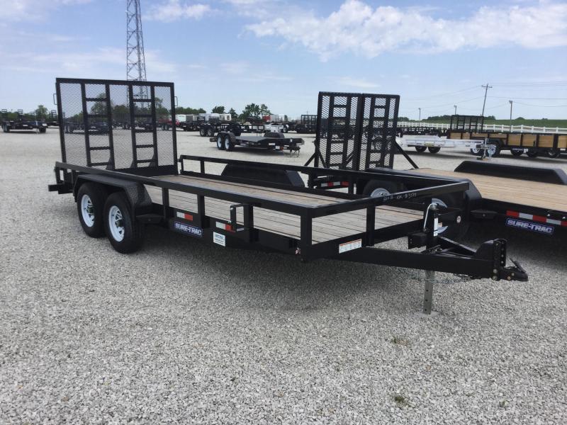2017 Sure-Trac ST8218TAT-B-100 Utility Trailer