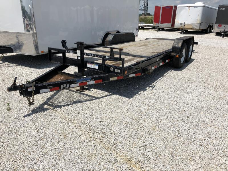 USED 2014 PJ Trailers 16+4 Flatbed Trailer