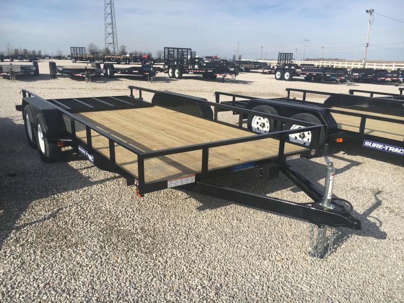 2019 Sure-Trac 7 X 16 Angle Iron Utility 7K Tandem
