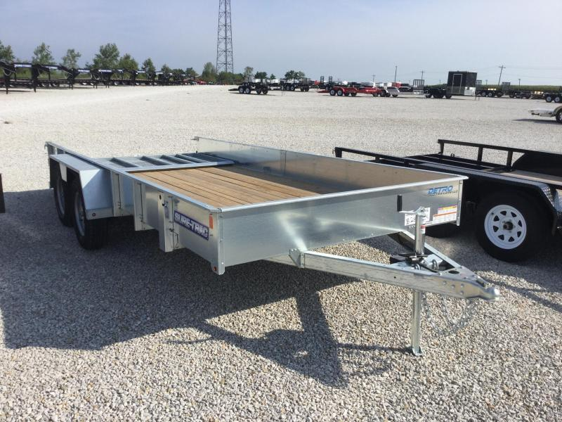 2017 Sure-Trac 7 x 16 Galvanized High Side Tandem 7K