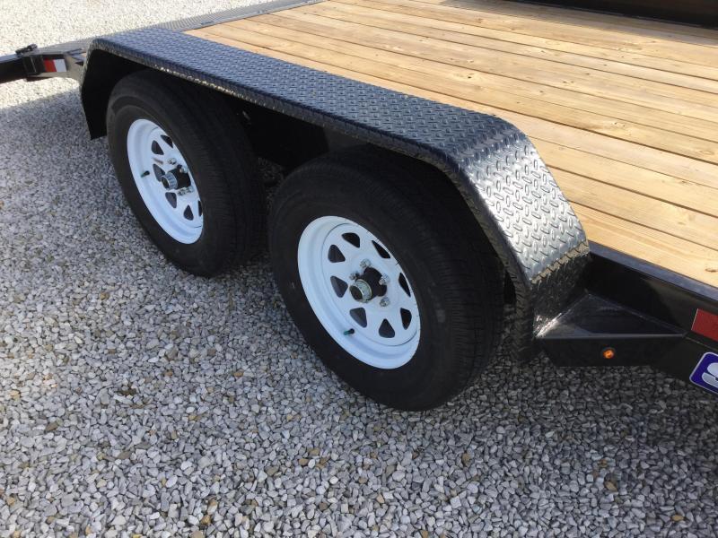2017 Sure-Trac 7 X 16 Wood Deck Car Hauler 7k
