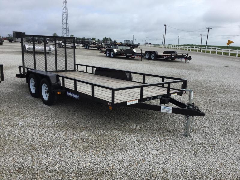 2017 Sure-Trac ST8216UAT-B-070 Utility Trailer
