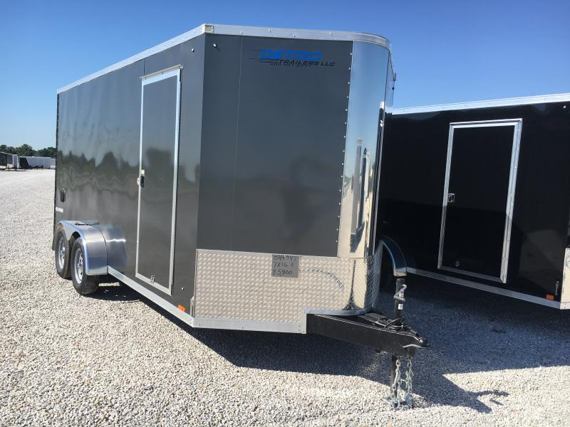 2019 Pace American Cv Flat Top 7 Wide Tandem Cargo / Enclosed Trailer