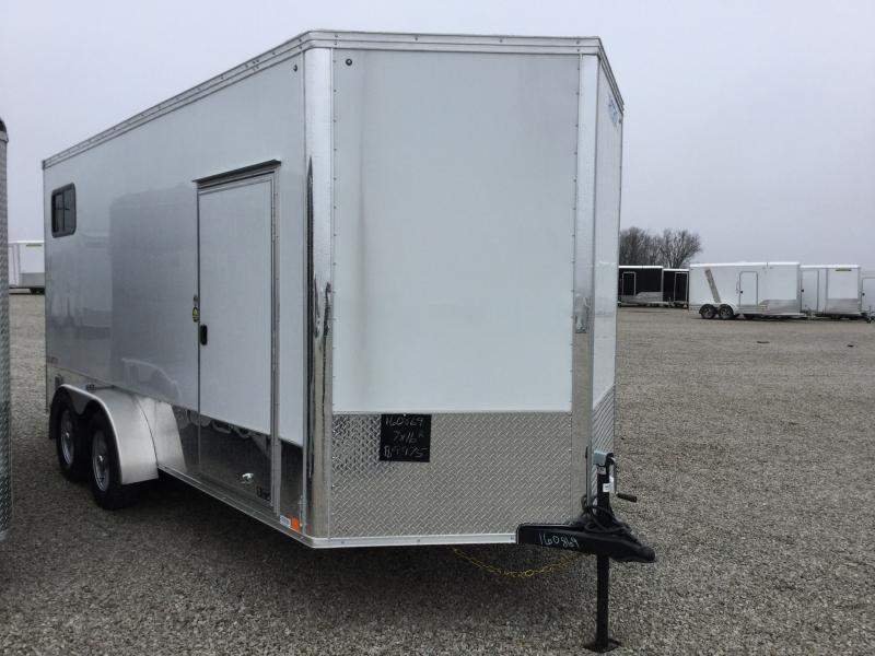 2018 United Trailers 7X16 Motorcycle Trailer