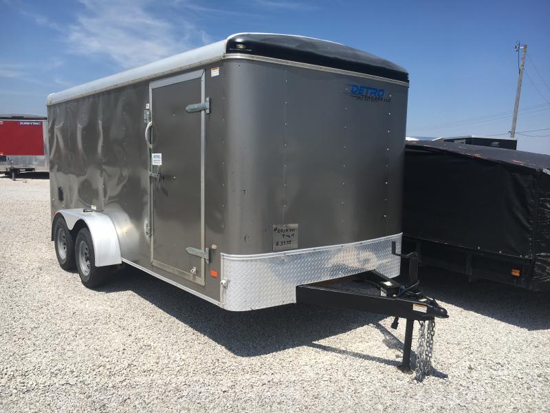 Used 2016 American Hauler Industries 7X16 Enclosed Cargo Trailer